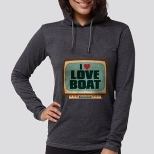 Retro I Heart Love Boat Womens Hooded Shirt