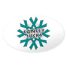 Peritoneal Cancer Sucks Sticker (Oval)