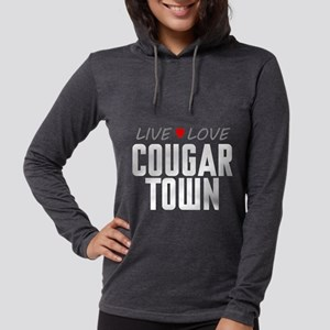 Live Love Cougar Town Womens Hooded Shirt