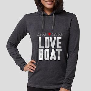 Live Love Love Boat Womens Hooded Shirt