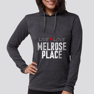 Live Love Melrose Place Womens Hooded Shirt