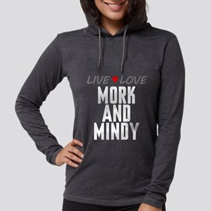 Live Love Mork and Mindy Womens Hooded Shirt