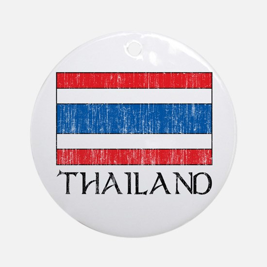 Thailand Flag Ornament (Round)