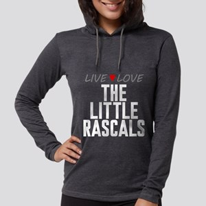Live Love The Little Rascals Womens Hooded Shirt
