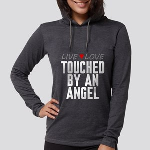 Live Love Touched by an Angel Womens Hooded Shirt