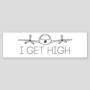 'I Get High' Sticker (Bumper)