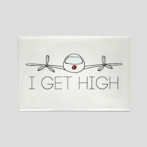 'I Get High' Rectangle Magnet