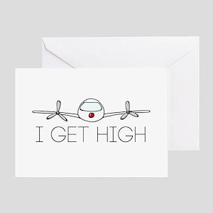 'I Get High' Greeting Card