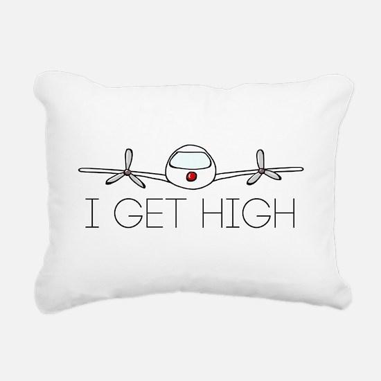 'I Get High' Rectangular Canvas Pillow