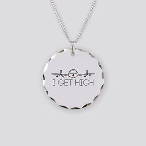 'I Get High' Necklace Circle Charm