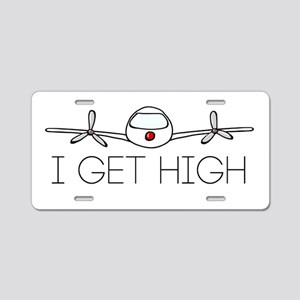 'I Get High' Aluminum License Plate