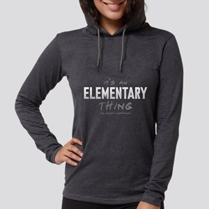 It's an Elementary Thing Womens Hooded Shirt