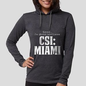 Shhh... I'm Binge Watching CS Womens Hooded Shirt