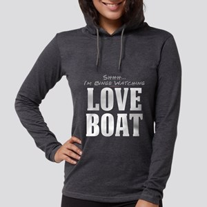 Shhh... I'm Binge Watching Lo Womens Hooded Shirt