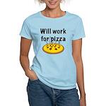 Will Work For Pizza Women's Light T-Shirt