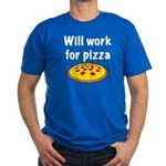 Will Work For Pizza Men's Fitted T-Shirt (dark)