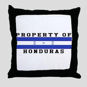 Property Of Honduras Throw Pillow