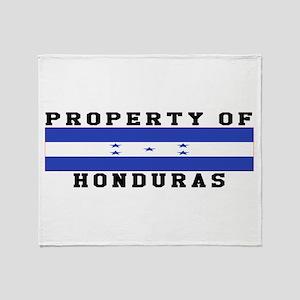 Property Of Honduras Throw Blanket
