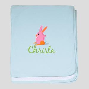 Easter Bunny Christa baby blanket