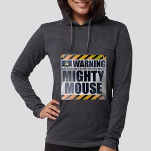 Warning: Mighty Mouse Womens Hooded Shirt