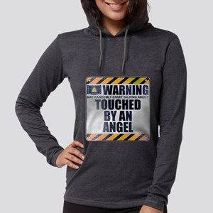 Warning: Touched by an Angel Womens Hooded Shirt