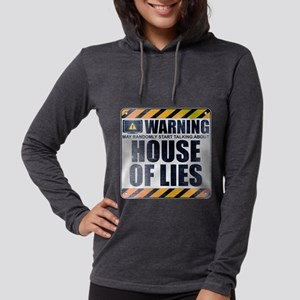 Warning: House of Lies Womens Hooded Shirt