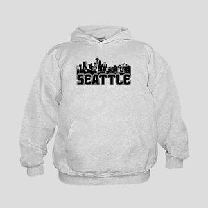Seattle Skyline Kids Hoodie