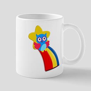 Rainbow Owl Small Mug