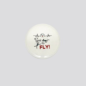'Time To Fly' Mini Button