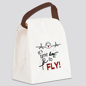 'Time To Fly' Canvas Lunch Bag