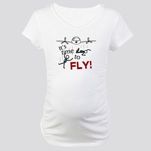 'Time To Fly' Maternity T-Shirt