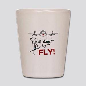 'Time To Fly' Shot Glass