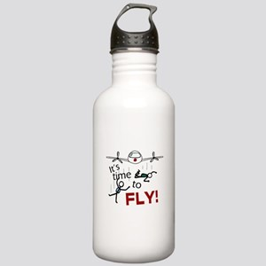 'Time To Fly' Stainless Water Bottle 1.0L