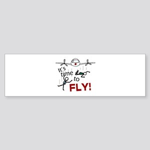 'Time To Fly' Sticker (Bumper)