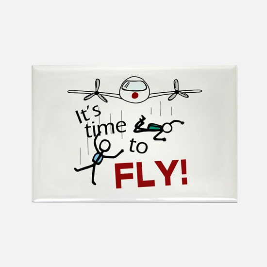 'Time To Fly' Rectangle Magnet