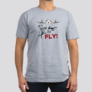 'Time To Fly' Men's Fitted T-Shirt (dark)