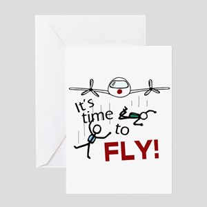 'Time To Fly' Greeting Card