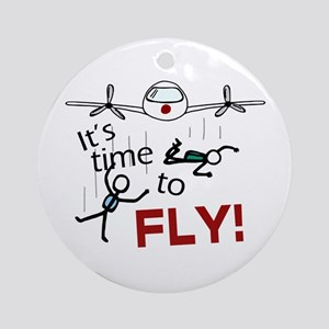 'Time To Fly' Ornament (Round)