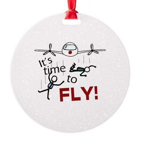'Time To Fly' Round Ornament