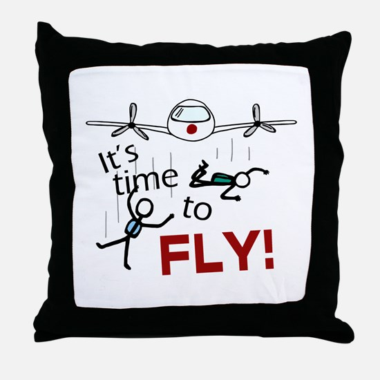 'Time To Fly' Throw Pillow
