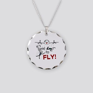 'Time To Fly' Necklace Circle Charm