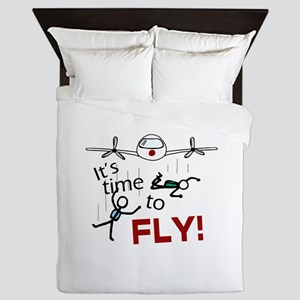 'Time To Fly' Queen Duvet