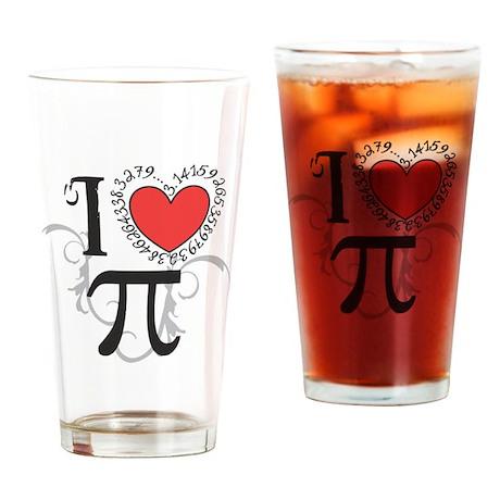 I heart Pi Drinking Glass
