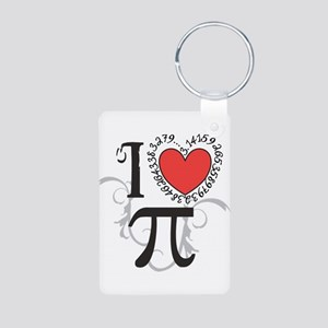 I heart Pi Keychains