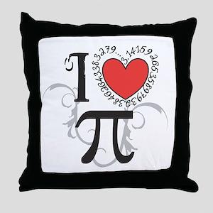I heart Pi Throw Pillow