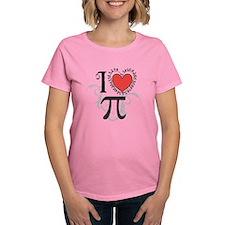 I Heart Pi Women'S Dark T-Shirt