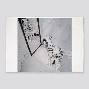 Roxie the Dalmatian 5'x7'Area Rug
