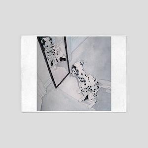 Roxie the Dalmatian 5'x7'Area Rug