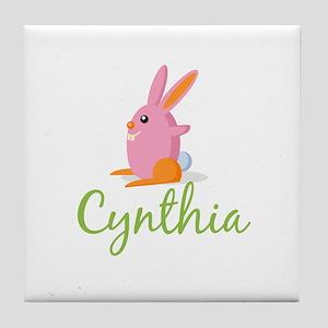 Easter Bunny Cynthia Tile Coaster