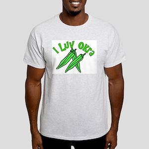 I Love Okra Ash Grey T-Shirt